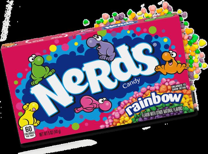 Nerds rainbow video box