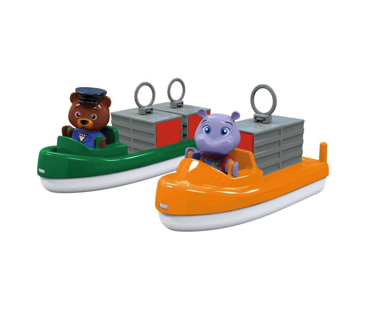 AquaPlay - Containerbåt og Transportbåt med 2 figu