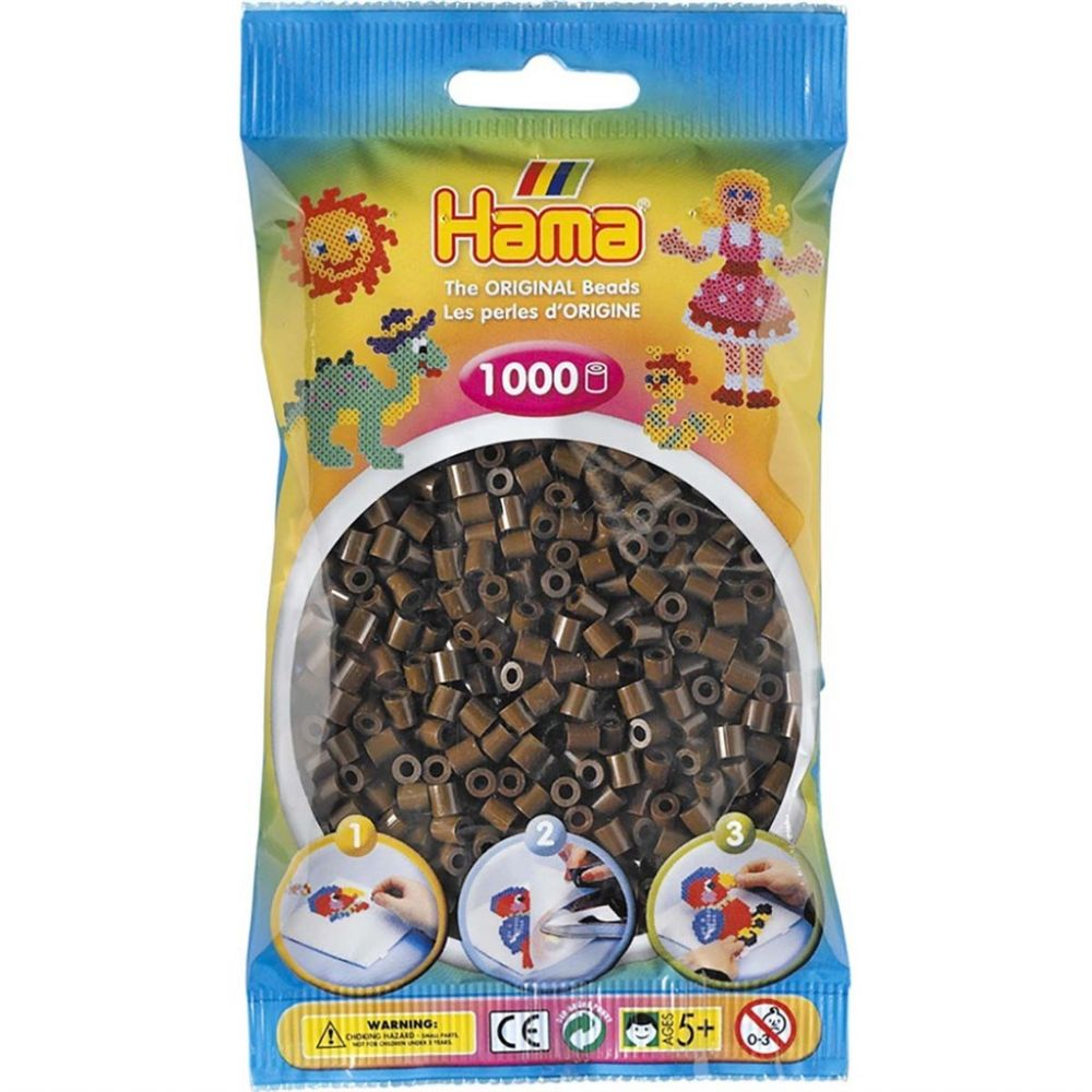 Hama Midi Beads 1000 pcs Brown