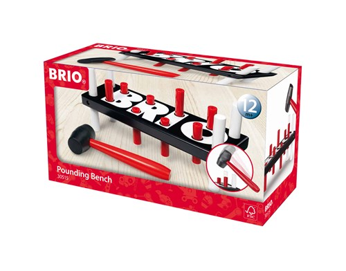 BRIO® Bankebrett sort/rød/hvit